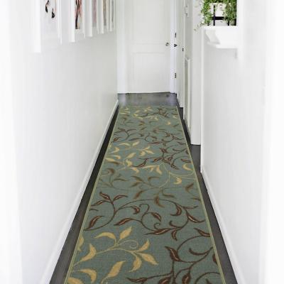 Alfombra pasillo ottohome 80x300 cm verde