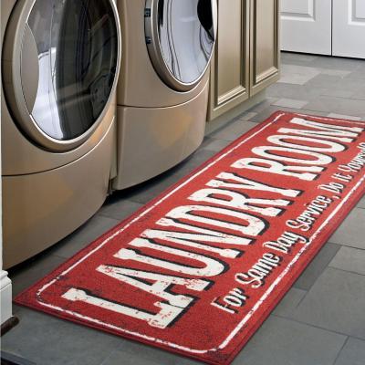 Alfombra Laundry 150x50 cm Rojo