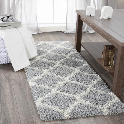 Alfombra pasillo shaggy 50x150 cm gris