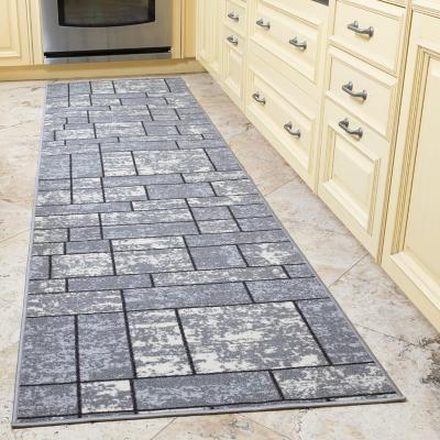Alfombra pasillo ottohome 60x210 cm gris