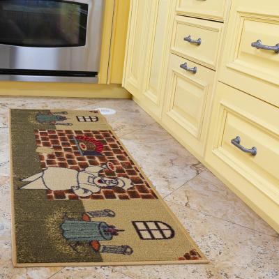 Alfombra pasillo Sara 50x150 cm beige