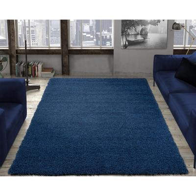 Alfombra shaggy 150x210 cm azul