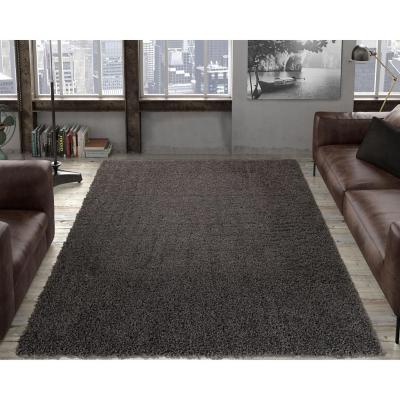 Alfombra shaggy 150x210 cm gris
