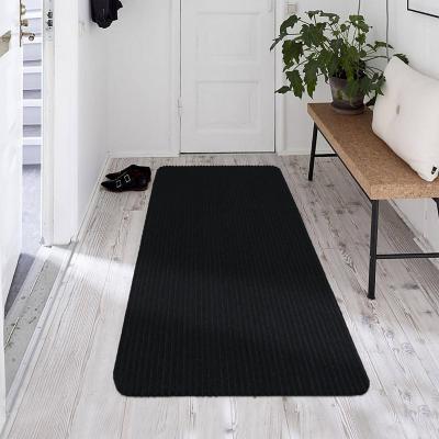 Alfombra pasillo utility 50x150 cm negro