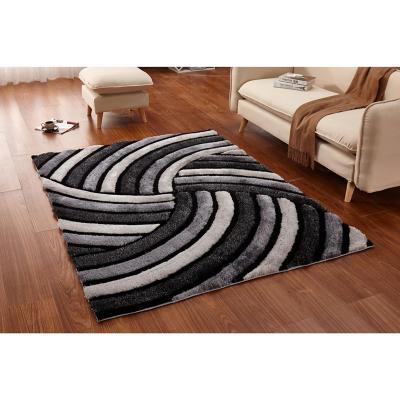 Alfombra shaggy 160x220 cm negro