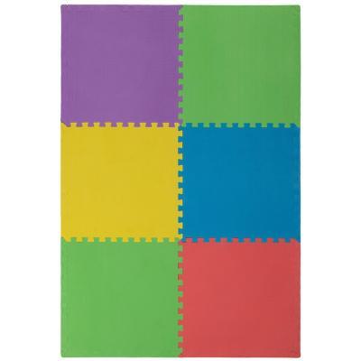 Alfombra goma eva 60x60 cm multicolor 6 unidades