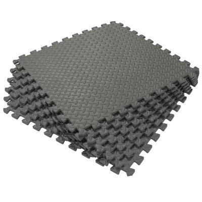 Alfombra goma eva 60x60 cm negro 6 unidades