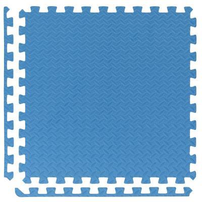 Alfombra goma eva 60x60 cm azul 6 unidades