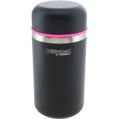Termo comida acero inoxidable negro-rosa 450 ml