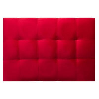 Respaldo alicante felpa rojo 1 plaza