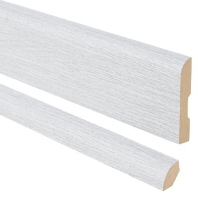 Pack 2 guardapolvos 2,4 m 12x70 mm + 2 cuarto rodón 2,4 m 20x20 mm MDF Evoke Concrete