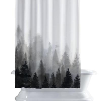 Cortina de baño 150x180 cm bosque