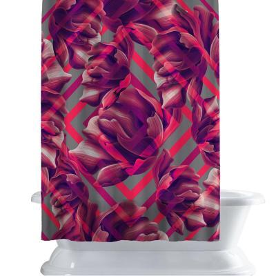 Cortina de baño 150x180 cm neon magenta