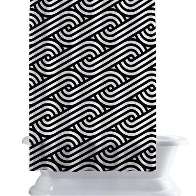 Cortina de baño 150x180 cm patrón lineal 6