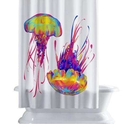 Cortina de baño 150x180 cm mar colorido