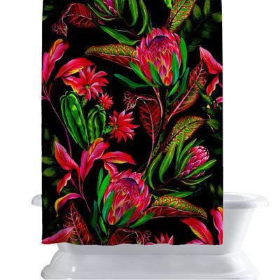 Cortina de baño 150x180 cm fluor psico