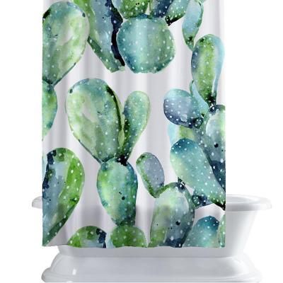 Cortina de baño 150x180 cm cactus