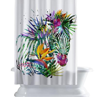 Cortina de baño 150x180 cm zebra