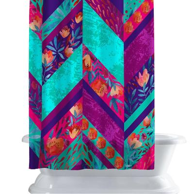 Cortina de baño 150x180 cm geometría neon