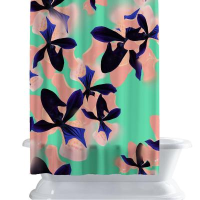 Cortina de baño 150x180 cm flores neon