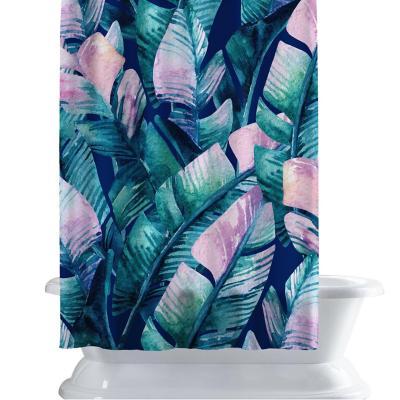 Cortina de baño 150x180 cm palmas cyan