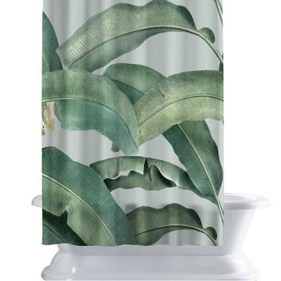 Cortina de baño 150x180 cm palmas