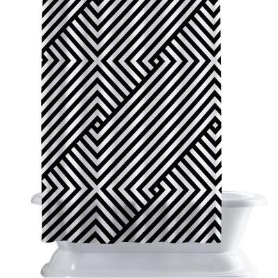 Cortina de baño 150x180 cm patrón lineal
