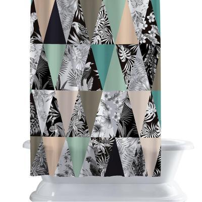 Cortina de baño 150x180 cm selva gris