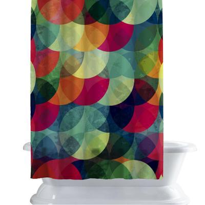 Cortina de baño 150x180 cm color circular