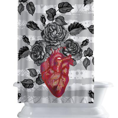 Cortina de baño 150x180 cm flor vital