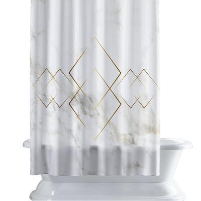 Cortina de baño 150x180 cm diamante dorado