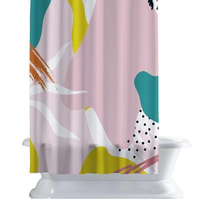 Cortina de baño 150x180 cm manchas