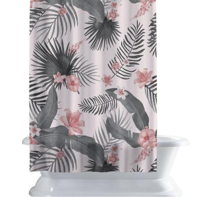 Cortina de baño 150x180 cm palma rosa
