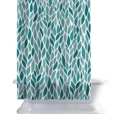 Cortina de baño 150x180 cm patron hoja
