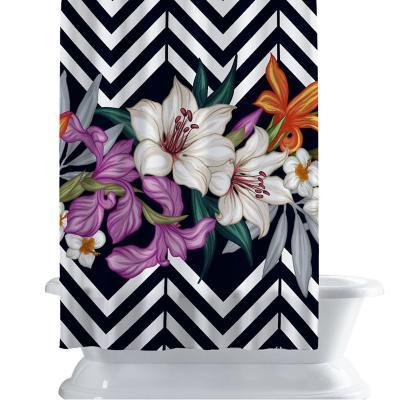 Cortina de baño 150x180 cm patron florar