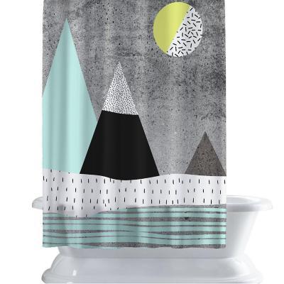 Cortina de baño 150x180 cm montaña
