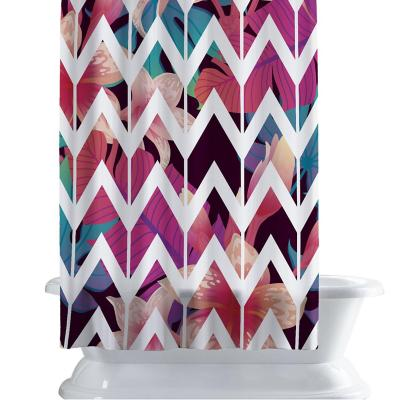 Cortina de baño 150x180 cm magenta