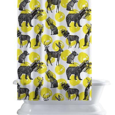 Cortina de baño 150x180 cm yellow roar