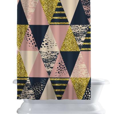 Cortina de baño 150x180 cm gold triangle