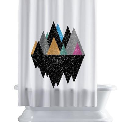 Cortina de baño 150x180 cm motaña geométrica