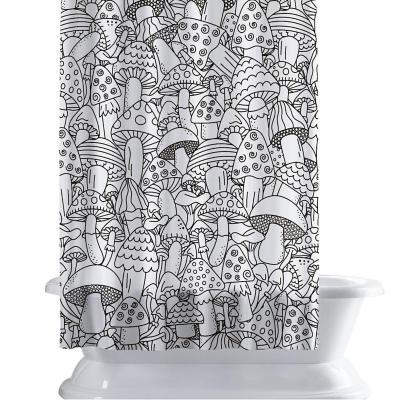 Cortina de baño 150x180 cm honguitos