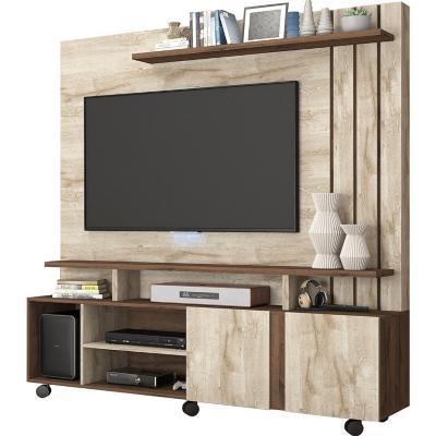 Rack tv home rustico beige 182x160x40,3 cm