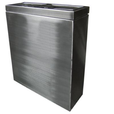 Basurero de reciclaje de 2 compartimientos 50 cm
