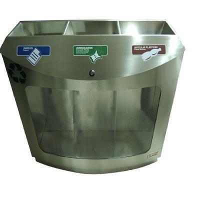 Basureo reciclaje transparente 88 cm