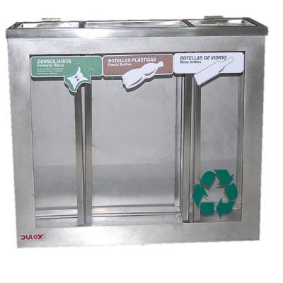 Basurero de reciclaje transparente 50 cm