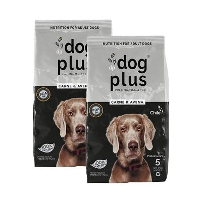 Pack 2 alimento para perro 5 kg carne y avena