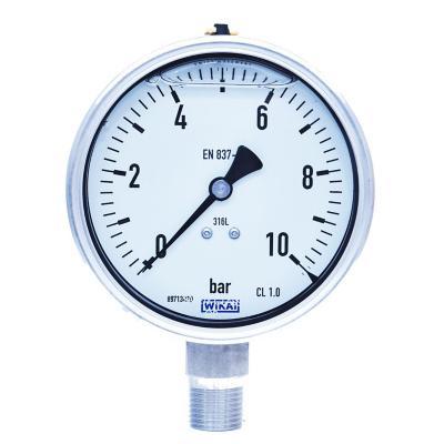 Manómetro 1/2 npt inferior de 0 a 10 bar