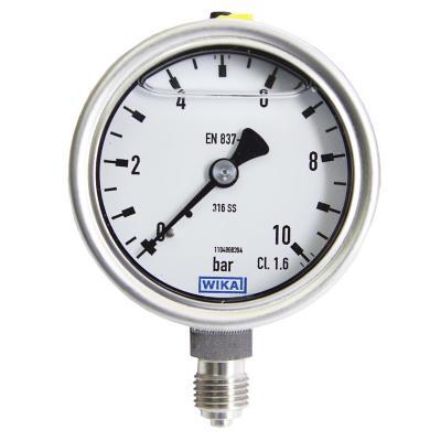 Manómetro 0 - 10 bar g1/4 bsp inferior dial 63 mm