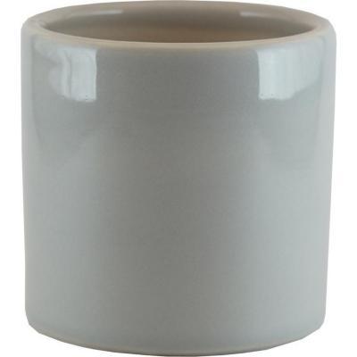 Macetero cactus cerámica 9x9 cm gris