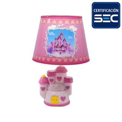 Lámpara de Mesa Castillo Rosa 1 Luz E27